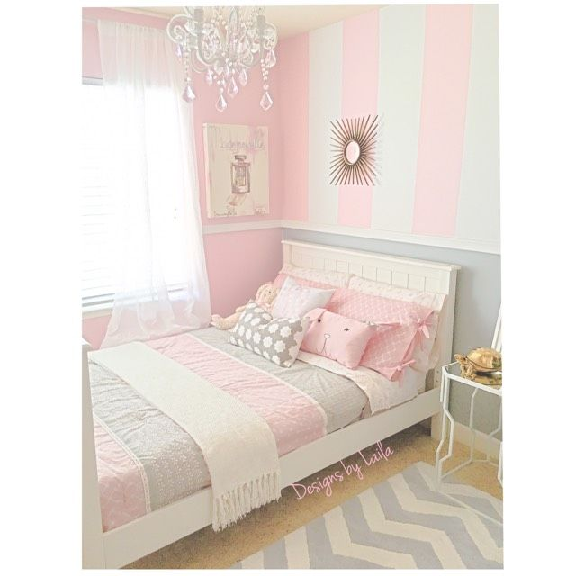 designs by laila our little girlu0027s bedroom pinks whites u0026 greys