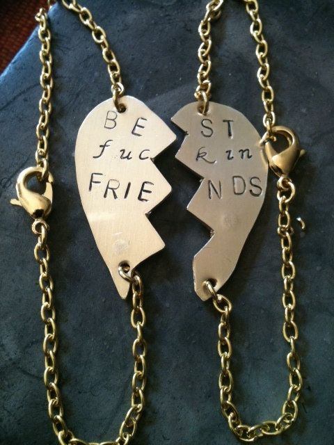 Mature content BFF Best  friends forever sterling silver by shama, $40.00