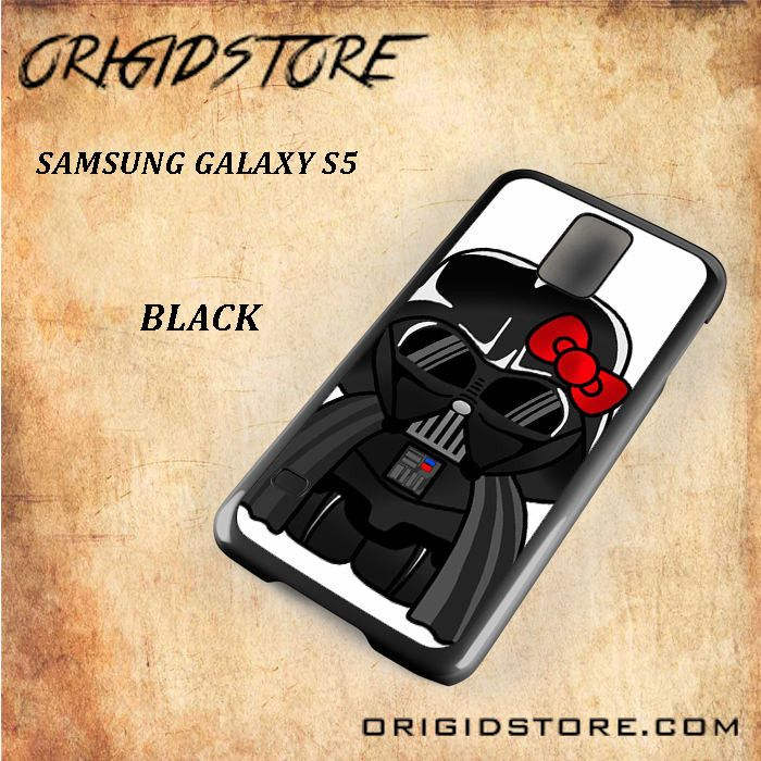 Anakin Skywalker Darth Vader Hello Kitty Star Wars Black White Snap On 3D For Samsung Galaxy S5 Case