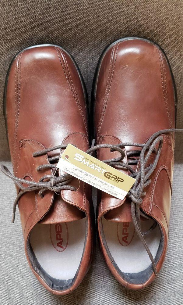 7fd1305f892 New Apex Ambulator Bio Stitch brown oxfords Mens diabetic shoes sz 9W wide