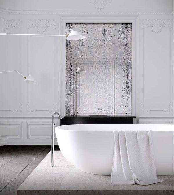 Стильный черно-белый интерьер парижской квартиры | Про дизайн|Сайт о дизайне интерьера, архитектура, красивые интерьеры, фотографии интерьеров, декор, стилевые направления в интерьере, интересные идеи и хэндмейд