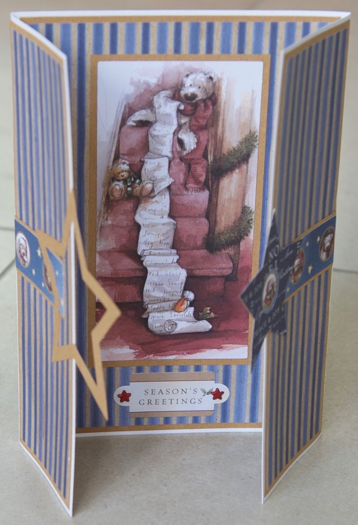Christmas card 2016: All elements from the docrafts Christmas with Wellington collection; sky paper from the Heartfelt Creations Coffee Talk collection