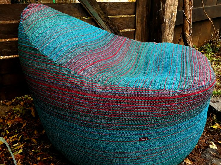 Woven striped bean bag from Barbrodesign