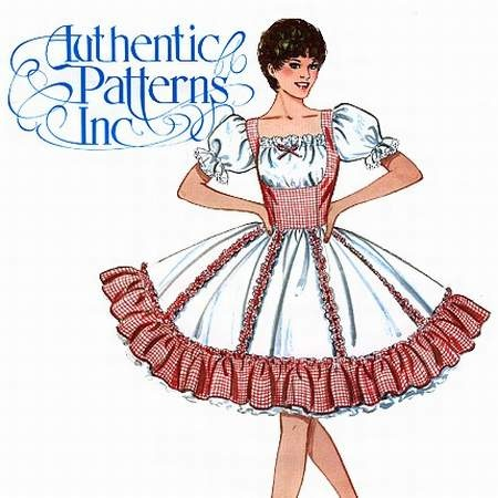 Square dancing dress pattern. Never dreamed I would make and wear dresses like this and with the big slips that I wore as a teenager.