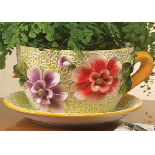 80+ Cup & Saucer Planter ideas | tea cups, cup and saucer