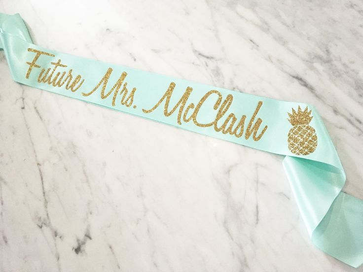 Future Mrs Sash, Bachelorette Party Sash, Beach Bachelorette Sash, Aloha Beaches Bachelorette Party, Bridal Shower sash, Pineapple sash by myeverydayparty on Etsy
