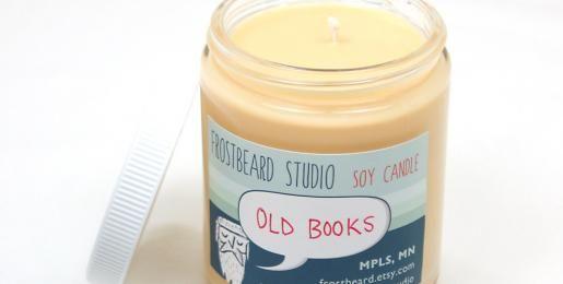 Tsja... Geurkaars ruikt naar oude boeken en muffe bibliotheken