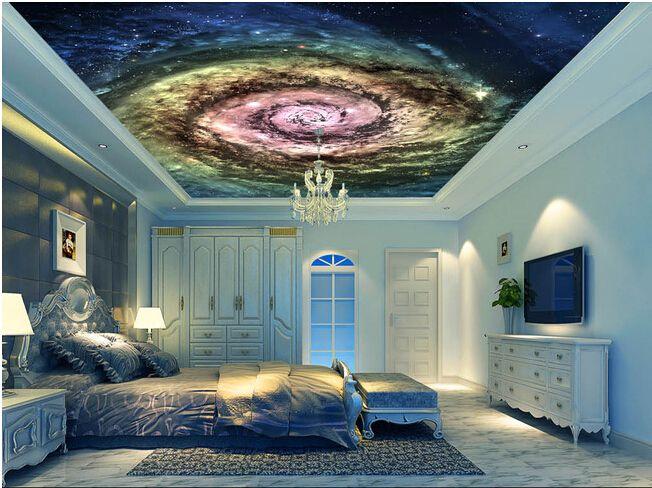O Papel de parede para sala, O cosmos estrelado teto bar KTV murais para o quarto parede Papel de parede de vinil(China (Mainland))