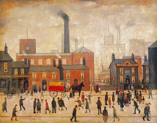Coming Home from the Mill by L S Lowry - art print from King & McGaw