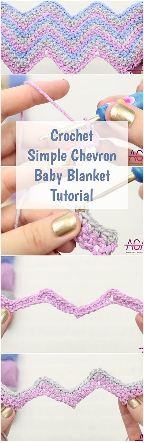 SIMPLE CHEVRON BABY BLANKET | Follow a free video guide, step-by-step yarn-by-yarn. | Crochet For Beginners | Patterns | Crochet Stitches | Free Crochet Video | Tutorials