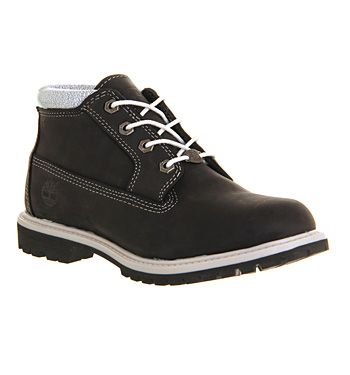 Timberland Nellie Chukka Double Waterproof Boot Black White Collar Exclusive - Ankle Boots