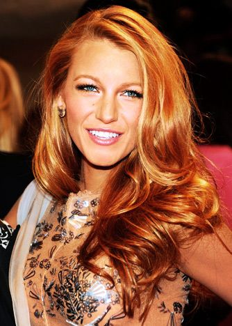 Blake Lively hairstyle haircolor celebritylook celebritystyle