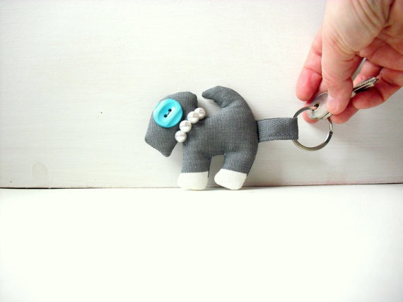 Armando the dog  Fabric keychain  OOAK soft sculpture by fattidame, €13.00