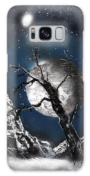 Printed with Fine Art spray painting image Night Of Wolves by Nandor Molnar (When you visit the Shop, change the orientation, background color and image size as you wish)
