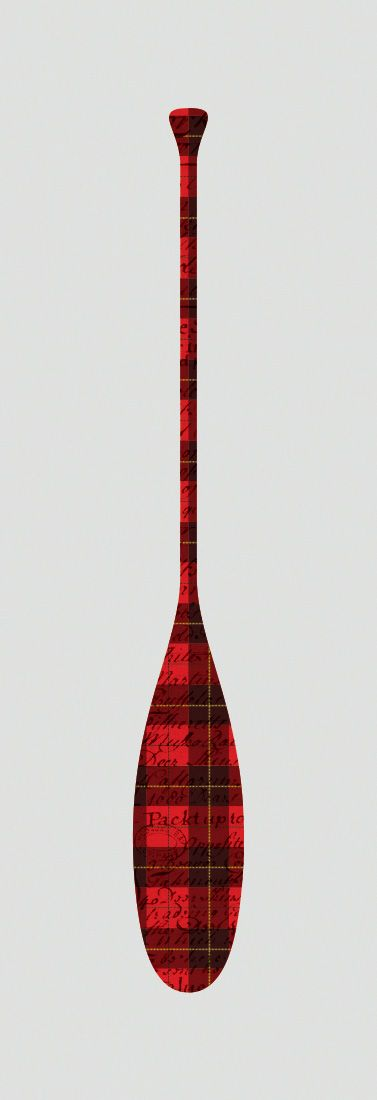The Plaid Paddle art poster series inspired by the Hudson Bay Voyageurs and a nod to the common fashion statement of all you latter-day cottage explorers. Great gift idea for men, or decoration for a condo, apartment or man-cave!