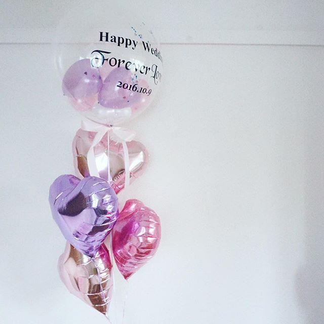 可愛いけど少し大人っぽいハートいっぱいのバルーンパフェ Forever Love✨ #balloons #gift #wedding #messageonballoons #theballtokyo #文字入りバルーン #ウェディング #ウェディングバルーン#ギフト#バルーン電報