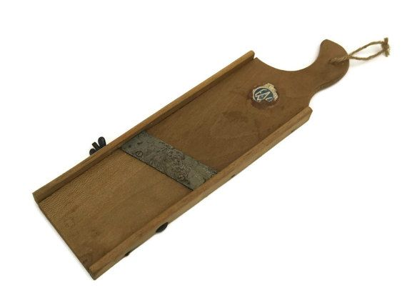 French Wooden Mandolin. Rustic Kitchen Decor. by LeBonheurDuJour