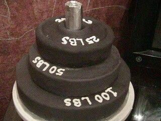 Perfect cake for my power lifting honey.