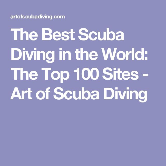 The Best Scuba Diving in the World: The Top 100 Sites - Art of Scuba Diving http://www.deepbluediving.org/bog-snorkelling/