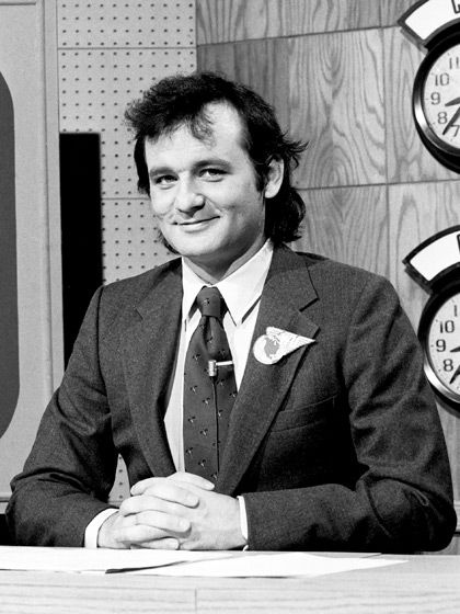 SNL Bill Murray lived down the street from us in the 80's. He use to ride by and beep as I walked with my to children.