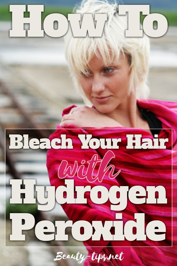 Step by step guide explaining how to bleach hair at home with hydrogen peroxide. 7 simple steps for having your hair bleached with hydrogen peroxide that can be done by you.