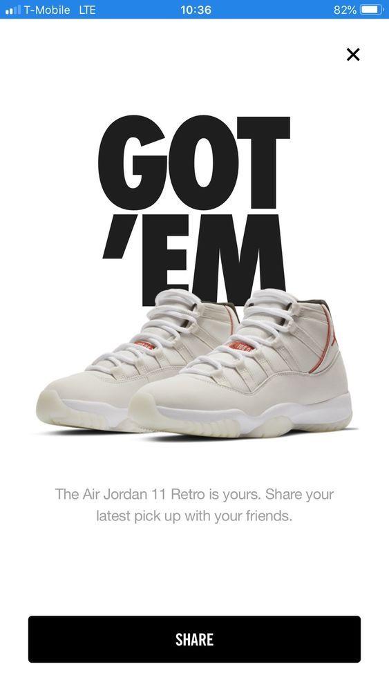 various colors 5dd86 ac9dd Jordan 11 Retro White Platinum Tint Size 9.5  fashion  clothing  shoes   accessories  mensshoes  athleticshoes (ebay link)