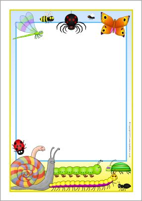 Mad About Minibeasts A4 page borders (SB9543) - SparkleBox