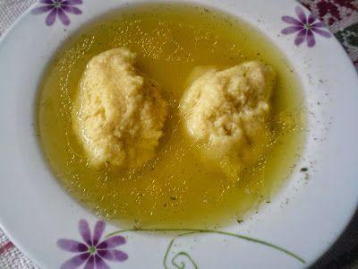 Paprikás krumpli: Grízgaluska leves