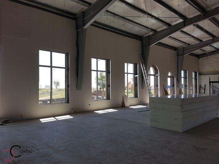 Design interior salon evenimente cu profile decorative CoArtCo