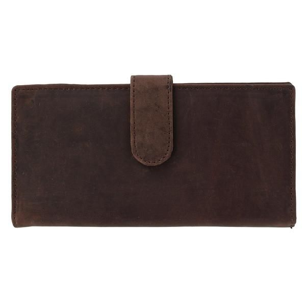 CTM Leather RFID Checkbook Cover with Card Slots and ID