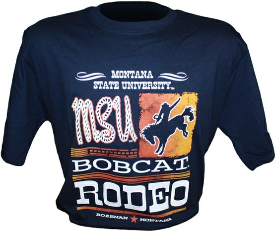 Montana State University Bobcat Rodeo T Shirt Athletics