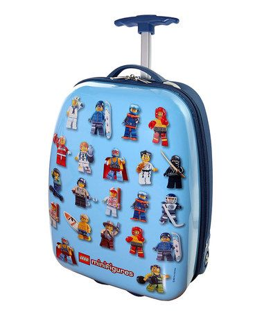 This LEGO MiniFigures Hard Shell <b>Rolling Luggage</b> Case by LEGO ...