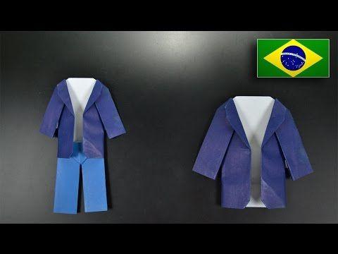 Origami: Casaco - Instruções em Português BR - YouTube
