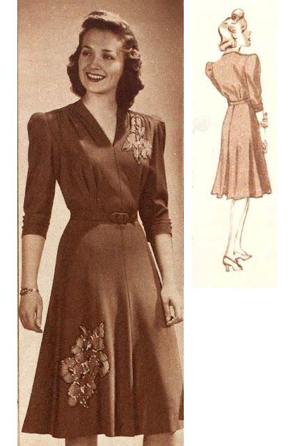 Five 40s Dresses That Capture The Era: 185 Best Images About 1940s Wear On Pinterest