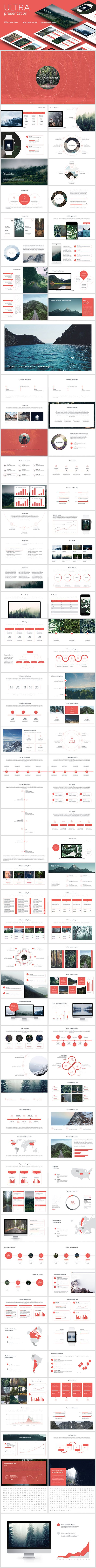 Ultra clean presentation - Keynote Templates Presentation Templates