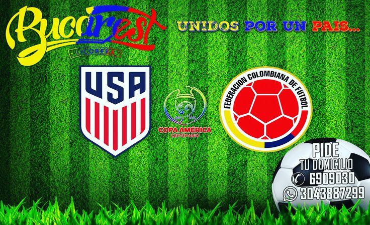 Disfruta del partido inaugural de la copa América centenario con Licorera BUCAREST Domicilios: 6909030 - 3043887299. BUCAREST Hace amigos! #unidosporunpais #licorerabucarest #vamoscolombia #FuerzaColombia