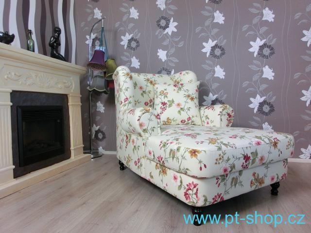 (857) SOFIA XXL - Velká květinová lenoška