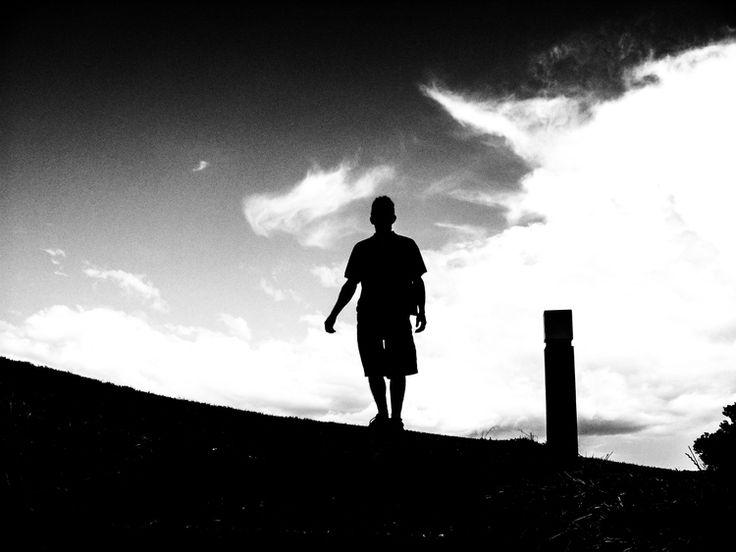 Black and white silhouette taken some time ago. #nz #bw #silhouette #sky #black #white
