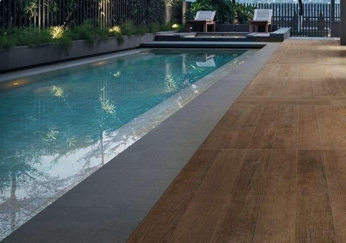 Pavimento in finto legno per esterni - Pavimento effetto legno per esterni