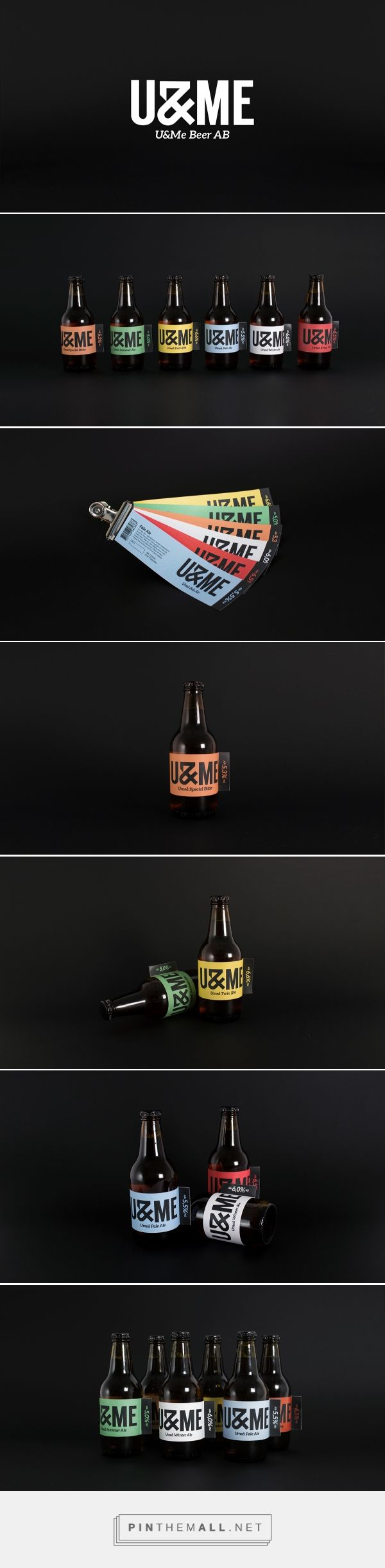 Branding, graphic design and packaging for U&ME BEER on Behance by Kalle Lund Stockholm, Sweden