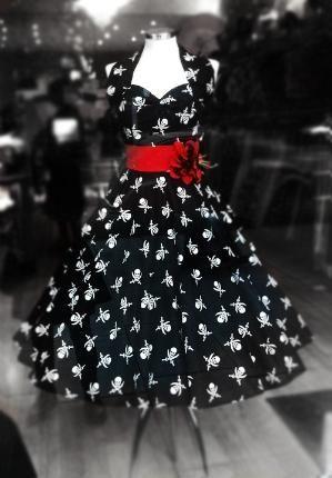 Punk Vintage Tea Length Dress reminds me of you @Megan Ward Young- Hollibough by delores