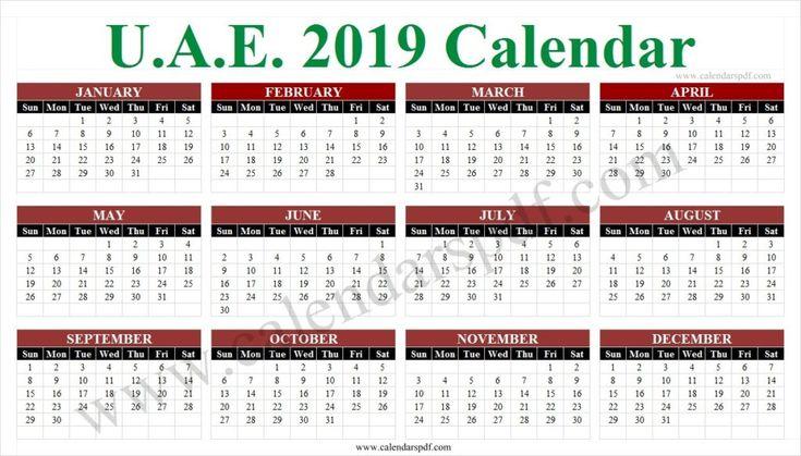 school calendar 2019 uae