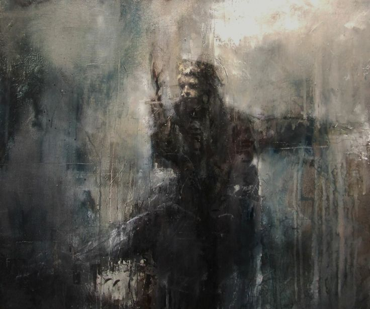 """Guy Denning """"le mot sacré (religious paintings for people with no faith)"""", oil on canvas, 60 x 50 cm current exhibition — at Galerie Brugier Rigail."""