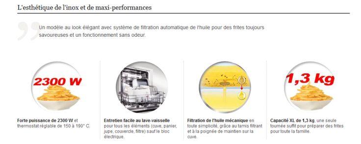 Seb FR404800 Friteuse Filtra Pro Design Inox Cuve Amovible 4 L: Capacité : 2300WCapacité de frites : 1,3kgCapacité huile : 4LCuve amovible…