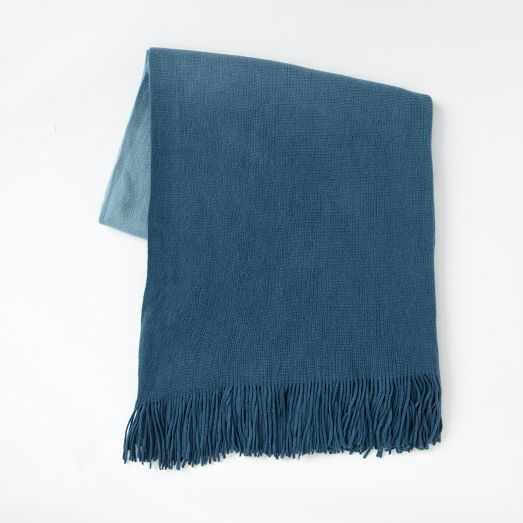 Softest Throw - Ombre, blue teal | west elm: Colors Double, Softest Throw Teal, 39 Blue, 44 West Elm, Elm Softest, Blue Shadow, Blue Teal, Blue Throw Blankets, Elm Matte