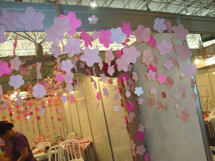 Sakuras - montagem do estande 03/07/2014