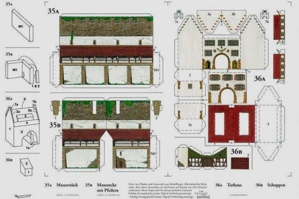 graphic relating to Free Printable Model Buildings identified as 13 Least complicated Pictures of Absolutely free Printable Paper Types Constructions