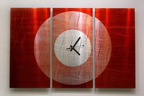 アメリカから直送 メタルアーティスト作 インテリア アートパネル 時計  ( お店、オフィス、お部屋に。 デザイナーズ、ブランド家具にぴったりなモダン絵画。アイアン製で高級、抽象、お洒落、ユニークな壁掛け彫刻 )_パネル時計_通販_ Amazon|アマゾン