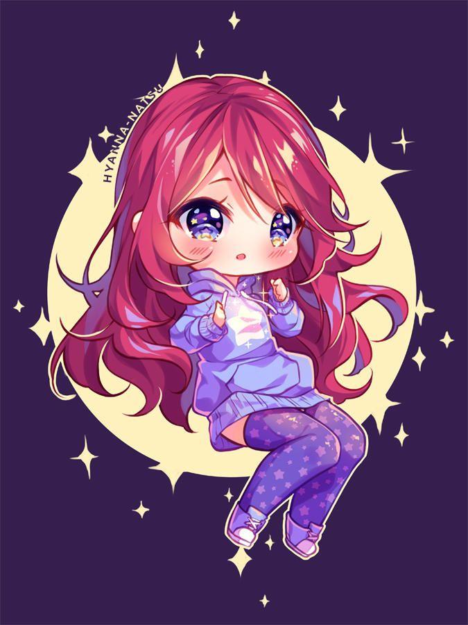 Video Commission Star Heart By Hyanna Natsu Chibi Anime Kawaii Cute Anime Chibi Chibi Girl Drawings