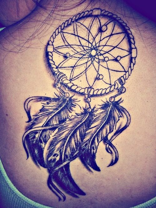 dream catcher, Kinda want one of these but am not so sure it is a good idea to tattoo something meant to catch evil spirits that cause bad dreams to your body...